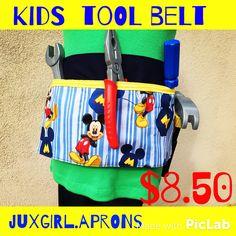 Kids tool or gardening belt follow at Juxgirl.aprons on Instagram