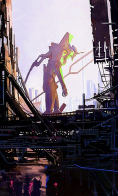 Neon Genesis Evangelion, Hideaki Anno, Mecha Anime, Monster Art, Manga Art, Japan, Sketches, Godzilla, Goku