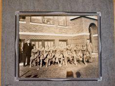 vintage football team photograph Nebraska high by athenastudio