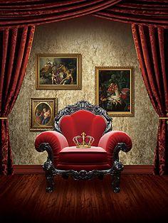 العرش رئيس الدولة كرسي مقعد الخلفية Red Sofa Home Decor Furniture