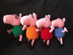 Amigurumi Tutorial Peppa Pig : Peppa pig family pattern amigurumi peppa pig family pig family