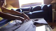 como doblar una camiseta en 2 segundos - YouTube