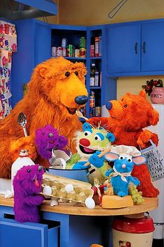 bear in the big blue house. (Oh my goodness childhood!!!!!!)