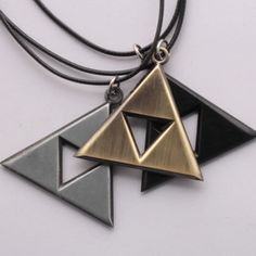 Legend Of Zelda Triforce Necklace - Three Colors. Just pay $0.50 plus shipping. Order Now! Limit 3 per customer.