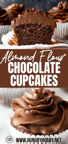 Chocolate Almond Flour Cupcakes are a little healthier but moist, rich, chocolatey cupcakes that everyone will love! Gluten-free, dairy-free, paleo