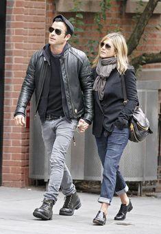 Jennifer Aniston & Justin Therouxs Couple Style