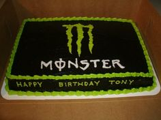 monster energy birthday cake - Bing Images