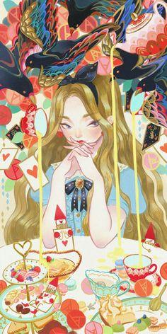 Alice in wonderland by Kuri Huang