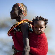 Samburu mother & baby - Kenya