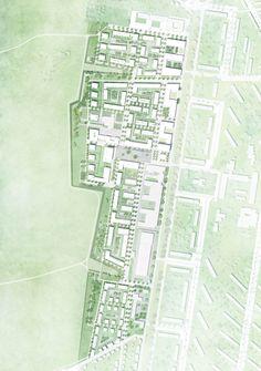 Machleidt, sianai & performative architektur (2015): 1:1000, Rahmenplan Zukunft Nord, Karlsruhe (DE), via competitionline.com