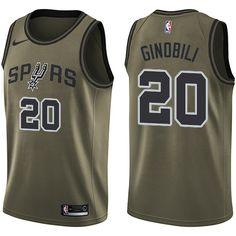 Men s Nike San Antonio Spurs Kawhi Leonard Green Salute to Service NBA  Swingman Jersey 264006891