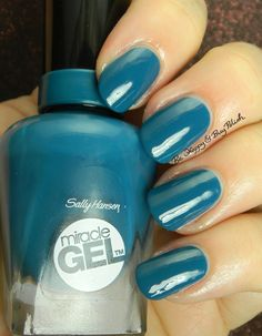 68 Best Ideas For Nails Blue Gel Sally Hansen Cute Pink Nails, Gel Nails French, Sally Hansen Nails, Blue Gel, Blue Nail Polish, Blue Tips, Gel Nail Art, Acrylic Nails, Trendy Nails