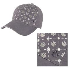 Paw Print Argyle Baseball Cap Hat - Helps the ASPCA #AnimalRescue #BaseballCap
