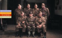 Image shows from L to R: Private Godfrey (Arnold Ridley), Lance Corporal Jones (Clive Dunn), Private Walker (James Beck), Captai. British Comedy, English Comedy, British Humour, British Sitcoms, British Actors, James Frazer, Dad's Army, Classic Comedies, Comedy Tv