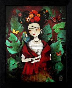 """Anne Julie Aubry - """"My Own Reality  """"Tribute to Frida Kahlo (Curated by June Leeloo)"""
