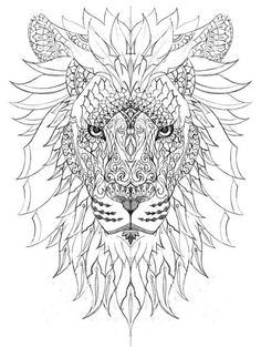 Most popular tags for this image include: lion, stress relief, coloring page, adult coloring and adult coloring page
