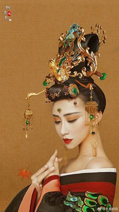 List the stuff you love! Oriental Fashion, Asian Fashion, Chinese Fashion, Traditional Fashion, Traditional Dresses, The Empress Of China, Chinese Clothing, Chinese Dresses, China Girl