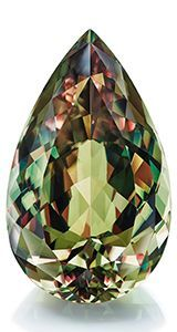 Milenyum Mining cut this 121.65-carat pear-shaped csarite from a 430-gram (2,150-carat) piece of rough. The company said it expects the stone to retail for close to $1 million.