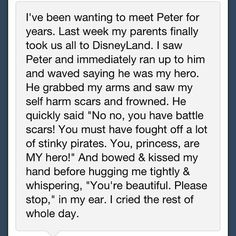 Awwww :) this is why I love Peter Pan