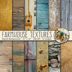 Fall Textures Digital Paper,Country Farmhouse Photo Textures, Shabby Chic Wood Texture Paper, Fall Colors Digital Paper, Autumn Wood Paper #digitalscrapbooking #photographybackdrops