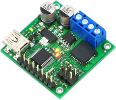 #manythings The jrk #21v3 motor controller is a highly configurable brushed DC motor controller that supports four interface modes: USB, logic-level serial, anal...