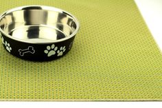 """Dog Food Mat, Waterproof, Choose Your Size, No Mess Mat, Dog Placemat, Cat Placemat, Cat Food Mat, Non Slip Mat, Non Skid Mat, Herb Green  No Mess Mat Waterproof, Stain/Odor/Bacteria/Mold Resistant, Non-Slip, Durable  These mats are true lifesavers for families with pets or children. Place them on anything you want to protect from pet hair, spills, stains, and accidents. Choose your size: ♦ Small: 12 x 18"""" ♦ Medium: 19 x 25 ♦ Large: 26 x 42 Suggested uses: ♦ Pet food mat ♦ Cat ..."""