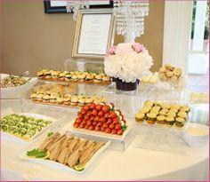 Bridal shower food display