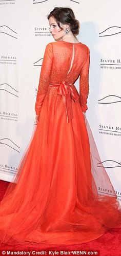Canadian model Coco Rocha stuns in orange gown at glamorous Silver Hill 2012 Gala | Mail Online
