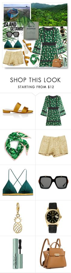 """How to Disappear: Island Getaway"" by mponte ❤ liked on Polyvore featuring Barneys New York, Anna Sui, Echo, Michael Kors, Gucci, Thomas Sabo, Rolex, Too Faced Cosmetics, ZAC Zac Posen and Marni"
