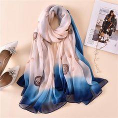 18d09a981ea0 Scarves. 2018 luxury brand summer scarf for women shawls wraps lady pashmina  print oversize long neck silk scarves foulard winter stoles