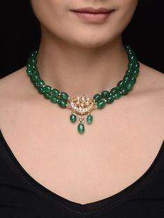 Pearl Necklace Designs, Jewelry Design Earrings, Gold Earrings Designs, Beaded Jewelry, Quartz Jewelry, Antique Jewellery Designs, Fancy Jewellery, Gold Jewellery Design, Jad
