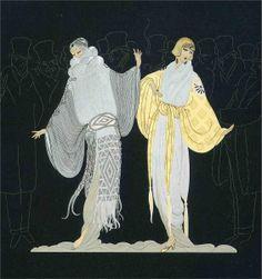 Opening Night -Erte - by style - Art Deco Arte Art Deco, Moda Art Deco, Art Deco Artists, Estilo Art Deco, Art Deco Artwork, Art Deco Posters, Art Nouveau, Erte Art, Romain De Tirtoff