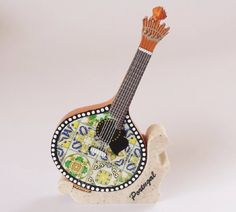 Famous Fado PORTUGUESE GUITAR Miniature with Traditional Lisbon Tiles Decoration Resin Gift Souvenir made in Portugal by PORTUGALWIDE on Etsy