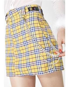 Free, fast shipping on Clueless Chain Skirt at Dolls Kill, an online boutique for streetwear fashion. Shop O Mighty graphic tees & bottoms here. Japanese Fashion, Korean Fashion, Girl Fashion, Fashion Outfits, Womens Fashion, Kawaii Fashion, Style Fashion, Unif Clothing, Girl Clothing