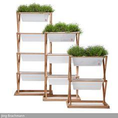 …. Gemüse selber ziehen? Auf engstem Raum ein Gartenbeet? Urbanature hat nachgedacht und ein neues Produkt entwickelt - gesehen bei roomido.com