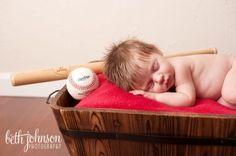 infant boy photography ideas | Baby Boy baseball