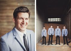 Classy vintage suits for the groom & groomsmen