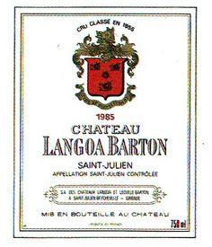 Chateau Langoa Barton Sanit Julien 1985 Wine Label