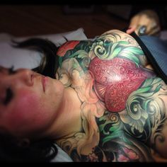 Tattoo by Jeff Gogue in Grants Pass, Oregon