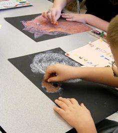 Suffield Elementary Art Blog!: Oil Pastel Horses