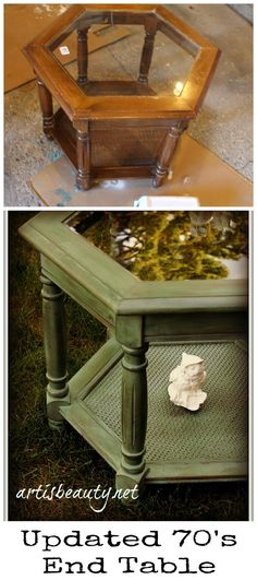 Art is beauty: outdated hexagon table redo furniture fix, chalk paint furniture, 70s Furniture, Western Furniture, Refurbished Furniture, Paint Furniture, Repurposed Furniture, Furniture Projects, Furniture Makeover, Furniture Online, Furniture Styles
