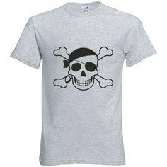 Fun - T-Shirt Piraten NEON Farben von Style-Home Wandtattoo's & T-Shirt Druck auf DaWanda.com