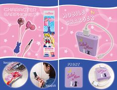 @Sailor Moon セーラームーン 『キャラクターイヤフォン』『スマートフォン/PHS対応 電池式充電器』 Sailor Moon Earphones and Cell Phone Charger from Japan! http://www.moonkitty.net