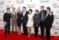 FRINGE 100TH EPISODE PARTY and FINALE EVENT: (L-R) FRINGE Creator and Executive Producer J.J. Abrams, Cast members Seth Gabel, Anna Torv, John Noble, Jasika Nicole, Blair Brown and Joshua Jackson and FRINGE Executive Producer J.H. Wyman arrive on the red carpet during the FRINGE 100TH EPISODE PARTY and FINALE EVENT at the Fairmont Pacific Rim Hotel on Saturday Dec. 1st in Vancouver, British Columbia.  CR: Michael Courtney/FOX