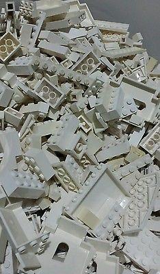 White Lego 2 lb Bricks Pieces Plates Bulk Wholesale Mixed Various Blocks Denmark