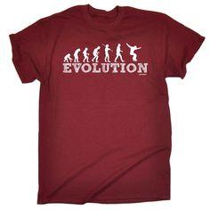 123t USA Men's Evolution Skater Boy Funny T-Shirt