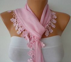 Baby Pink Scarf  ..  by fatwoman, $15.00