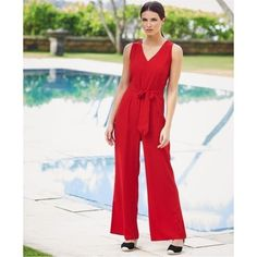 d0e6fe75c51d Avon Tailored Jumpsuit Red Size UK 14 16 DH077 JJ 21  fashion  clothing