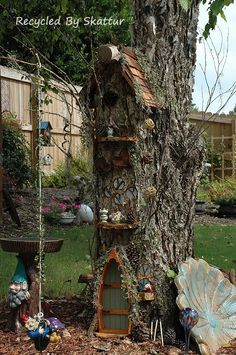 Tall view of the miniature tree house