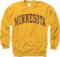 Minnesota Golden Gophers Gold Arch Crewneck Sweatshirt